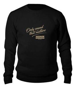 "Свитшот унисекс хлопковый ""WDNH Records black sweatshirt"" - wdnhrecords"