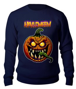 "Свитшот унисекс хлопковый ""HALLOWEEN Pumpkin"" - праздник, юмор, ужастик, тыква, хеллоуин"