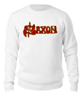 "Свитшот унисекс хлопковый ""Saxon Band"" - heavy metal, рок музыка, рок группа, saxon, саксон"