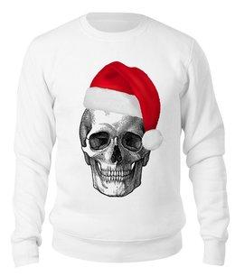 """Свитшот унисекс хлопковый """"SKULL Happy New Year"""" - череп, новый год, скелет, символ, арт дизайн"""