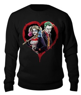 """Свитшот унисекс хлопковый """"Harley Quinn & The Joker"""" - сердце, джокер, харли квинн, отряд самоубийц, безумная любовь"""