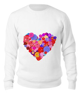 """Свитшот унисекс хлопковый """"День всех влюбленных"""" - любовь, день святого валентина, валентинка, i love you, день влюбленных"""