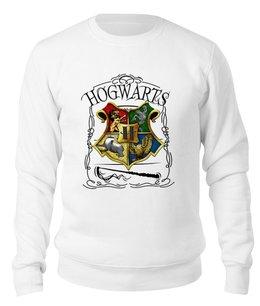 "Свитшот унисекс хлопковый ""Хогвартс "" - фантастика, гарри поттер, хогвартс, hogwarts, магия"