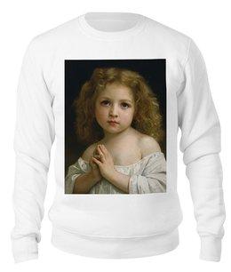 "Свитшот унисекс хлопковый ""Молитва (Вильям Бугро)"" - картина, бугро"