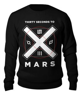 "Свитшот унисекс хлопковый ""30 Seconds to Mars"" - 30 seconds to mars, thirty seconds to mars, джаред лето, рок, группы"