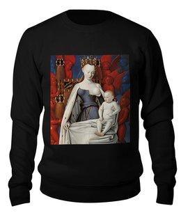 """Свитшот унисекс хлопковый """"Дева Мария (Маленский диптих)"""" - картина, живопись, христианство, фуке"""