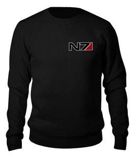 """Свитшот унисекс хлопковый """"N7 - Mass Effect"""" - n7, mass effect, масс эффект, игры, playstation"""