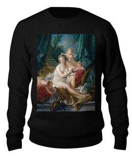 "Свитшот унисекс хлопковый ""Туалет Венеры (картина Франсуа Буше)"" - картина, живопись, мифология, франсуа буше, афродита"