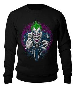 """Свитшот унисекс хлопковый """"The Joker"""" - джокер, киногерои, отряд самоубийц, любителям комиксов, киноману"""