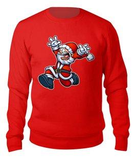 """Свитшот унисекс хлопковый """"TerribleSanta"""" - новый год, дед мороз, санта клаус, безумный, ужасный"""