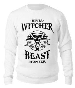 "Свитшот унисекс хлопковый ""Ведьмак (The witcher)"" - ведьмак, the witcher"