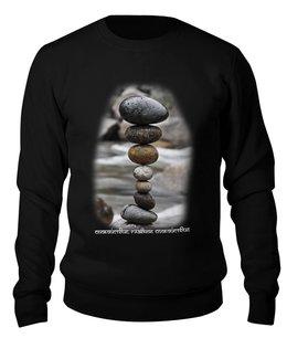 """Свитшот унисекс хлопковый """"Каменные пирамидки. Спокойствие... #3"""" - арт, мультфильм, природа, этно, медитация"""
