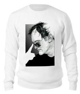 "Свитшот унисекс хлопковый ""Quentin Tarantino"" - портрет, тарантино, иллюзия, квентин, киноманам"