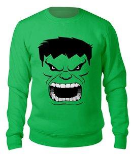 """Свитшот унисекс хлопковый """"GreenMen"""" - супергерой, качек, здоровяк"""