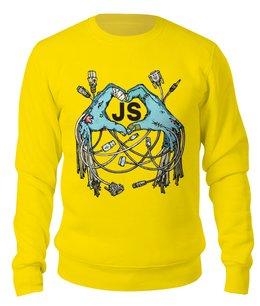 "Свитшот унисекс хлопковый ""Zomie JS"" - javascript, geek, программист, developer, devfest"