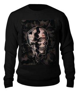 """Свитшот унисекс хлопковый """"Skulls"""" - череп, ужас, тьма"""