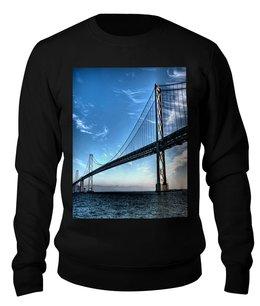 """Свитшот унисекс хлопковый """"Сан-Франциско. """" - купить свитер мужской, свитшот мужской, свитшот с принтом мужской, свитера мужские цены, свитер купить"""