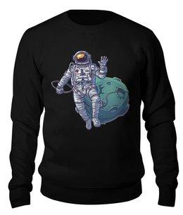 """Свитшот унисекс хлопковый """"Космонавт"""" - планета, космос, невесомость"""