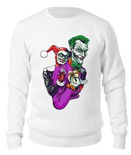 "Свитшот унисекс хлопковый ""The Joker & Harley Quinn"" - джокер, харли квинн, dc комиксы, отряд самоубийц, суперзлодеи"