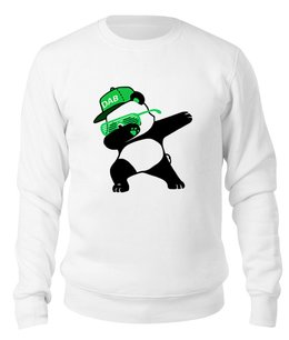 "Свитшот унисекс хлопковый ""Dab Panda "" - животные, панда, panda, дэб, dab"