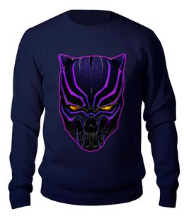"Свитшот унисекс хлопковый ""Skull Panther"" - череп, кошка, фантастика, пантера, ваканда"