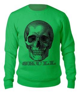 "Свитшот унисекс хлопковый ""SKULL (dollar)"" - череп, скелет, символ, доллар, арт дизайн"