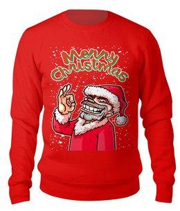 """Свитшот унисекс хлопковый """"BAD SANTA (Merry Christmas)"""" - юмор, новый год, рождество, санта клаус, плохой санта"""