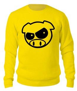 """Свитшот унисекс хлопковый """"TUNINGOWA PIG"""" - животные, мужу, сыну, хрюша, свин"""