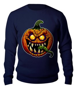 "Свитшот унисекс хлопковый ""HALLOWEEN Pumpkin"" - праздник, хэллоуин, юмор, ужастик, тыква"