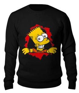 """Свитшот унисекс хлопковый """"Барт Симпсон"""" - барт симпсон, симпсон, the simpsons"""