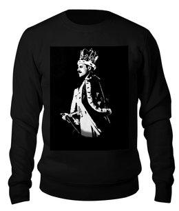 "Свитшот унисекс хлопковый ""Фредди Меркури.квин.""queen"""" - queen, фрэди меркури, богемская рапсодия, рокк музыка"