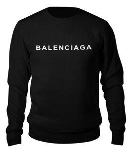 """Свитшот унисекс хлопковый """"BALENCIAGA LOGO """" - логотип, бренд, хайп, balenciaga, баленсиага"""