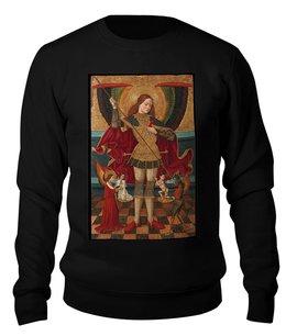 """Свитшот унисекс хлопковый """"Святой Михаил взвешивает души"""" - готика, картина, живопись, архангел, абадия"""