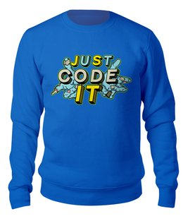 "Свитшот унисекс хлопковый ""Coder"" - зомби, javascript, developer, code, coder"