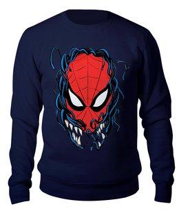 """Свитшот унисекс хлопковый """"Человек Паук и Веном"""" - venom, spider man, человек паук, веном"""