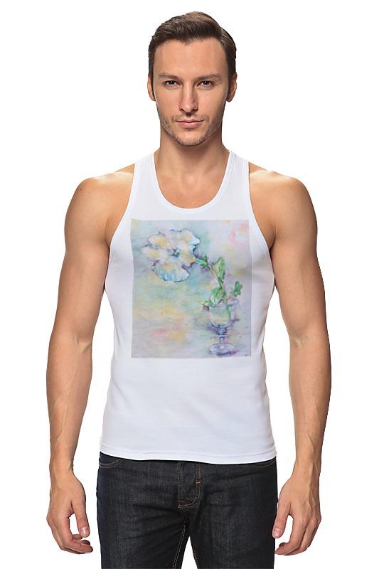 Майка классическая Printio Белая мальва футболка классическая printio муравьед с цветами