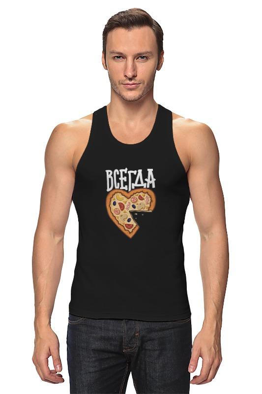 Майка классическая Printio Мышь и пицца. парные футболки. футболки
