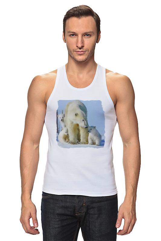 Майка классическая Printio Белая медведица с медвежатами цена