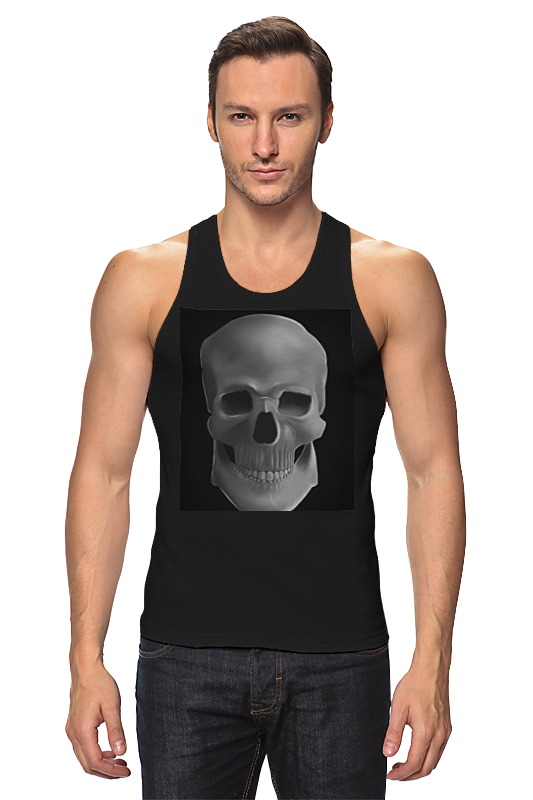 Майка классическая Printio Skull fashionable punk style skull pendant necklace