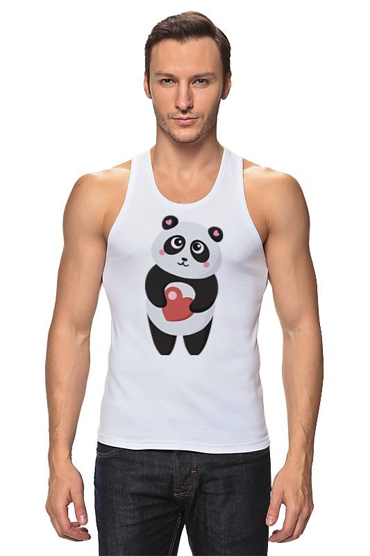 Майка классическая Printio Панда с сердечком позиционеры для сна candide позиционер с подголовником воздухопроницаемая панда air