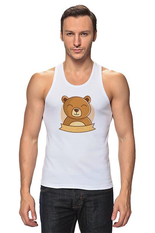 Майка классическая Printio Спящий медвежонок фомка белый медвежонок