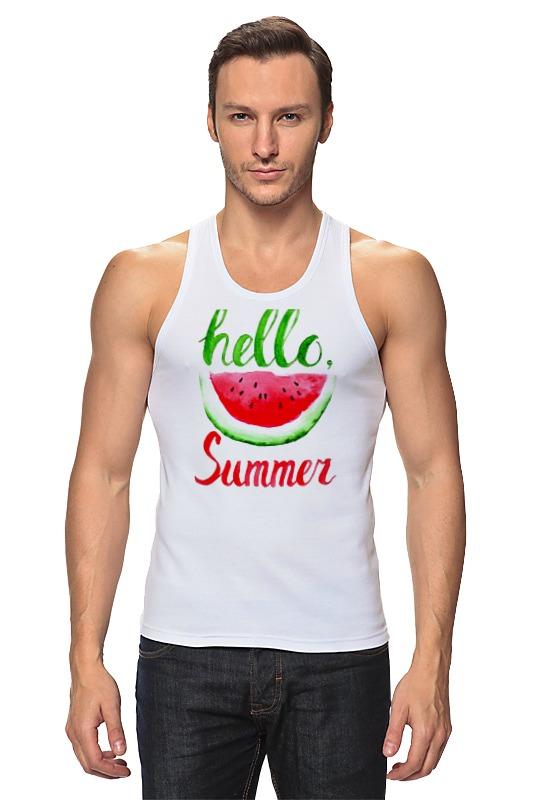 женские пляжные принадлежности Майка классическая Printio Hello summer