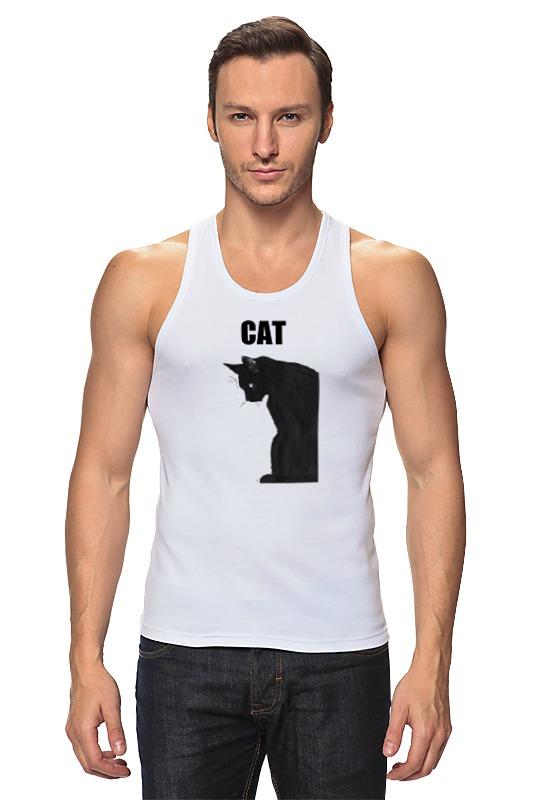 Майка классическая Printio Чёрный кот майка классическая printio грустный кот grumpy cat