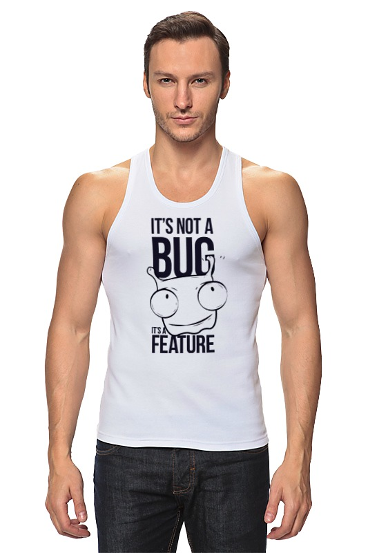 Майка классическая Printio It's not a bug like bug juice on a burger