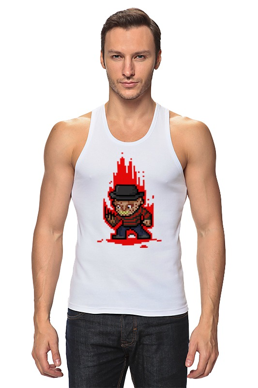 Майка классическая Printio Freddy krueger (8-bit) футболка wearcraft premium printio freddy krueger 8 bit