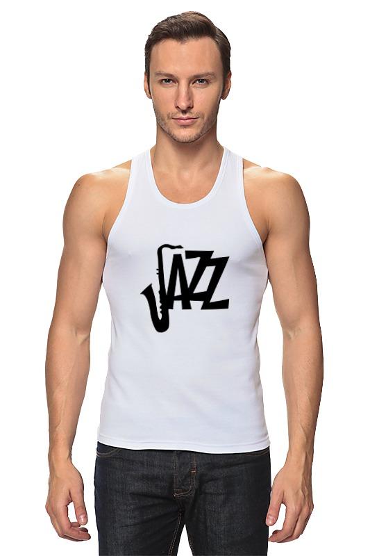Майка классическая Printio Джаз (jazz) aroma jazz масло массажное жидкое для лица огненный джаз 200 мл