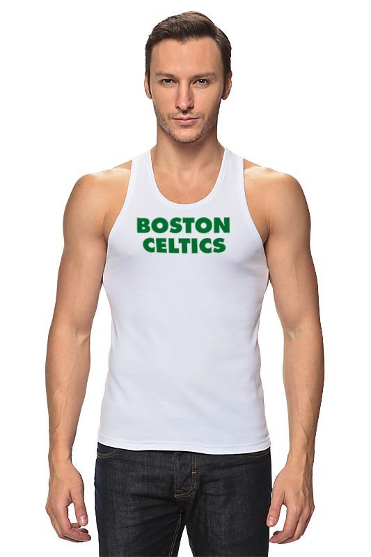 Майка классическая Printio Boston celtics белая цена 2017