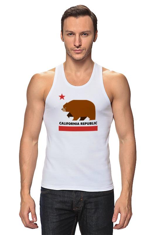 Майка классическая Printio Калифорния (медведь) толстовки barkito калифорния 45y 27100mkor