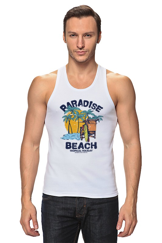 Майка классическая Printio Paradise beach цена 2017