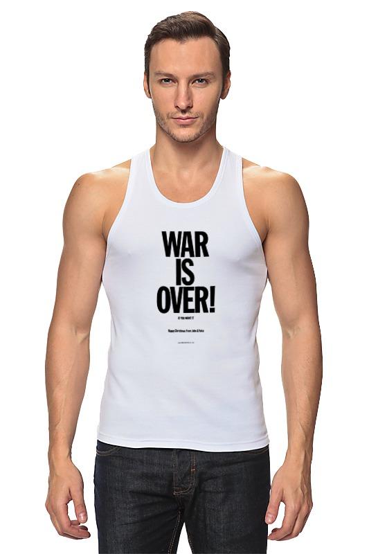 лучшая цена Майка классическая Printio War is over / война закончена